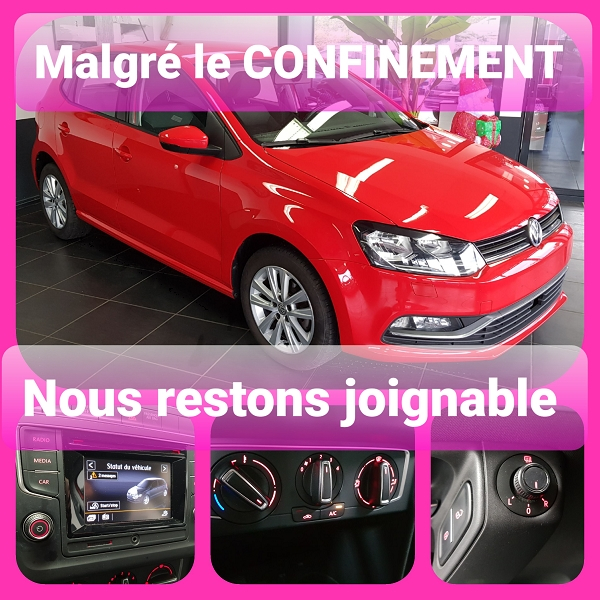 Volkswagen POLO 1.2 TSI 90CH BLUEMOTION TECHNOLOGY ALLSTAR 5P Essence ROUGE Occasion à vendre