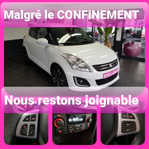 Suzuki SWIFT 1.2 VVT 94CH BIBA 5P Essence BLANC Occasion à vendre